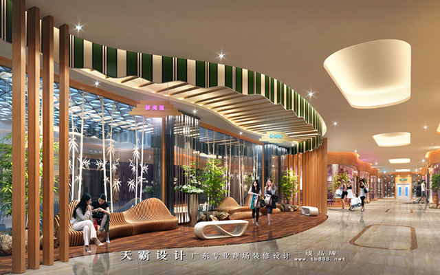 商场装修设计效果图湖南怀化汇丰家乐广场项目可供