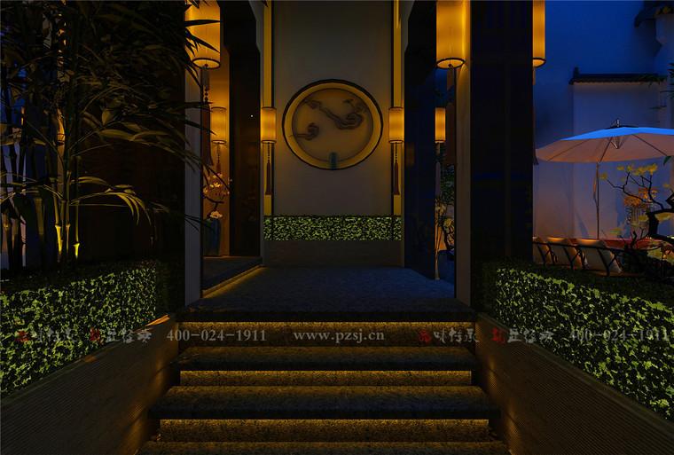 【餐厅饭店设计】江苏省南通市下沉庭院餐厅设计