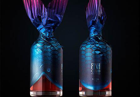 创意的Fish Club Wine葡萄酒包装设计