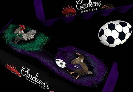 罗马尼亚世界杯足球赛鸡蛋包装设计欣赏