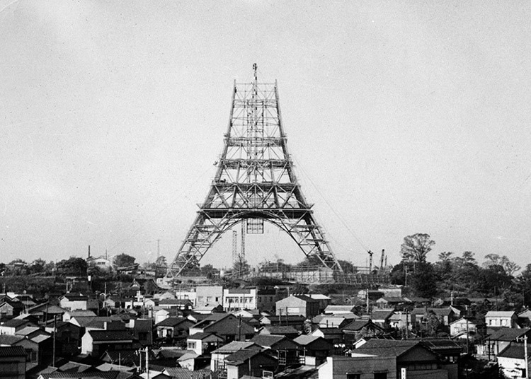 初建时的东京塔