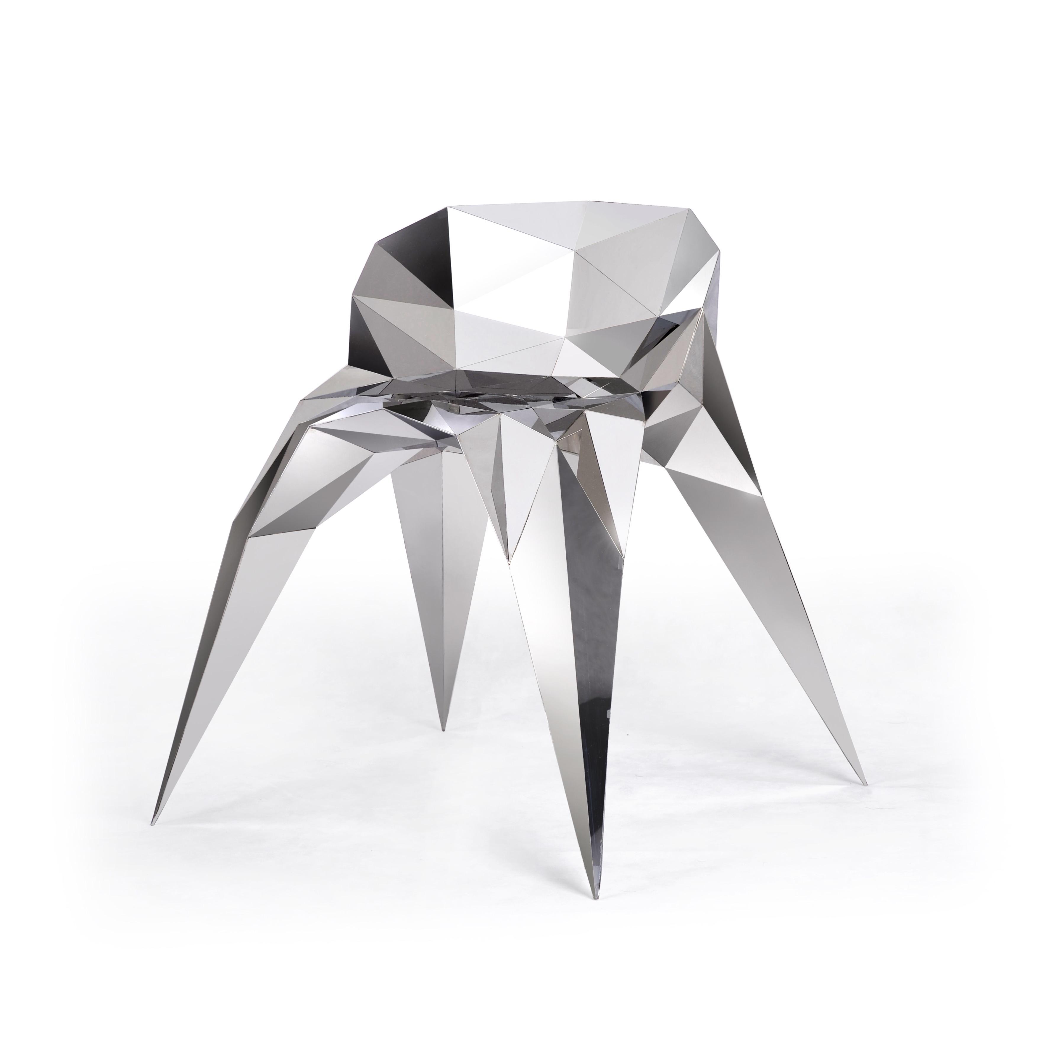 张周捷 OBJECT超镜面不锈钢椅子 2011年