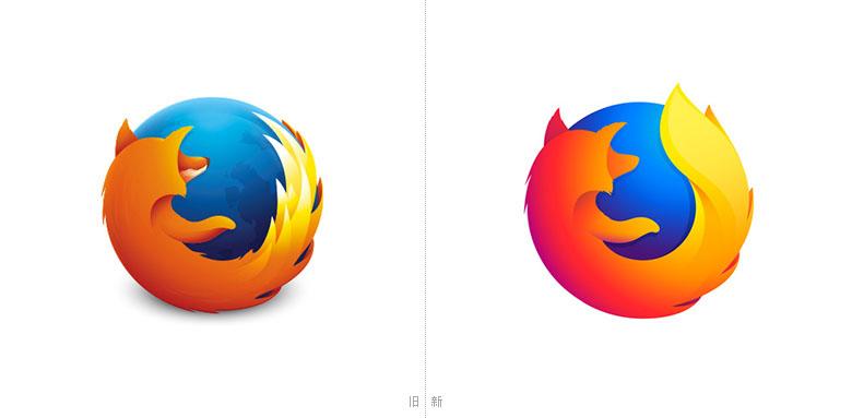 Firefox正式启用新logo