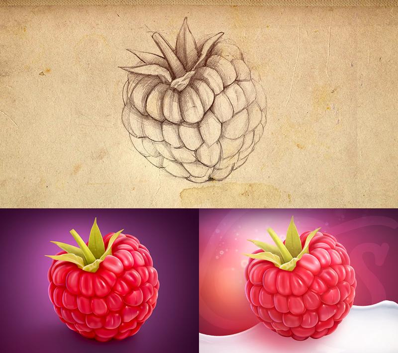 精美3D数码艺术作品及草图
