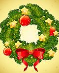AI教程:制作精美的圣诞花环