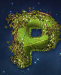 PS教程:制作爬满藤蔓的树叶文字