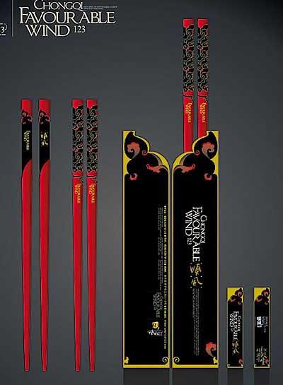 中国特色筷子包装设计欣赏