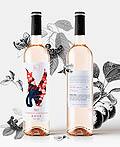 美国Hi No Tori Rosé 2017玻璃瓶酒包装设计