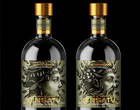 Kensatu酒标签包装设计欣赏