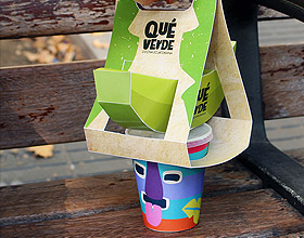 厄瓜多尔Que verde零食外卖品牌包装设计