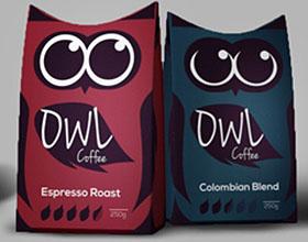 猫头鹰灵感:挪威DWL咖啡包装设计