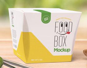 漂亮的现实主义午餐盒包装设计模板