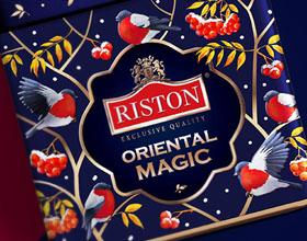俄罗斯Riston冬季版茶叶包装设计