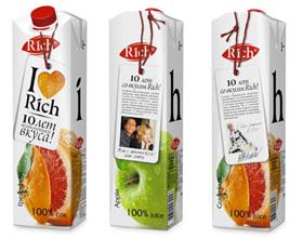 Rich饮料庆祝十周年纪念包装设计欣赏