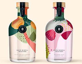 英国Baeza Wigzell Infusions酒包装设计