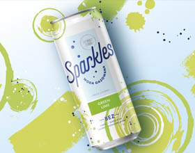 Sparkles苏打水包装设计