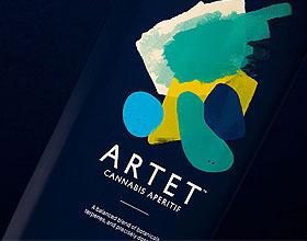 优雅的Artet大麻酒精饮料包装设计