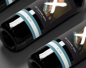葡萄酒SIN SANGRE AZUL包装设计