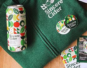 清新Sincere Cider苹果酒品牌包装设计