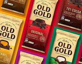 澳大利亚Old Gold黑巧克力包装设计
