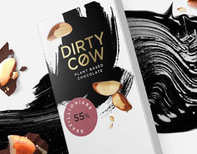 伦敦Dirty素食巧克力包装设计