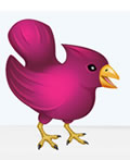 以紫色为主基调的标志设计