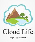 35个创意云主题logo设计