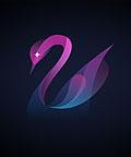 25个可爱的天鹅元素logo设计