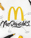 Luis Lili手绘的知名品牌logo