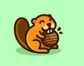 20个海狸元素在logo设计中的运用实例