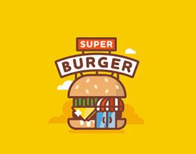 27个汉堡元素在logo设计中的运用实例