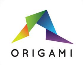 时尚的折纸风格logo设计欣赏
