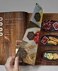 怀旧的木纹西餐厅餐谱设计