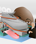 飞一般的感觉―乔丹运动鞋插画设计