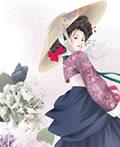 韩国少女―古典艺术插画设计