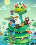 和谐的动物世界―Swampland插画艺术作品