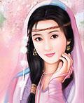 美丽优雅的中国女孩插画设计