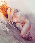 恐怖的女人裸体插画