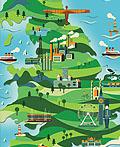 卫报周末杂志英国天然气使用图插画