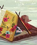 俄罗斯可爱的小刺猬儿童书籍插画设计
