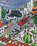 梅赛德斯-奔驰广告插画设计