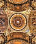 罗马教堂天顶绘画