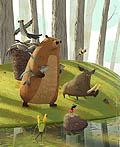 森林里的动物插画