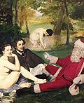 插入名画中的圣诞老人
