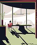 伦敦South酒店的插画风格海报设计