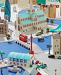 海蒂纽曼惊人的城市剪纸艺术