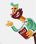 可口可乐2015圣诞节人物插画