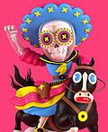 墨西哥El Grand Chamaco 3D插画