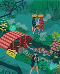 日本浮世绘的童话插画