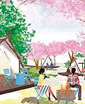 日本插画师kaoru YAMADA插画作品